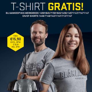 + gratis t-shirt